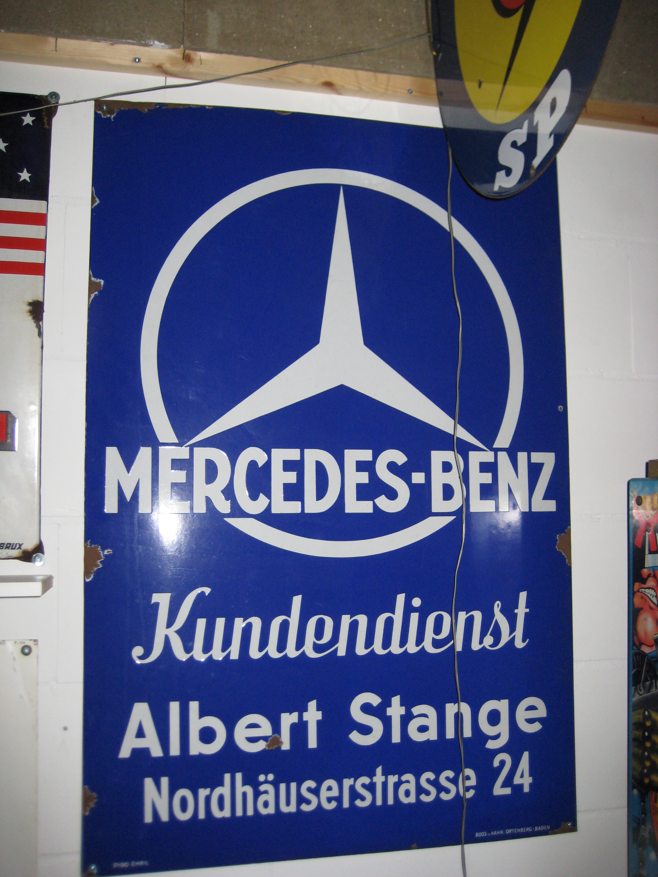 Mercedes benz sign 155 petrolclassic for Mercedes benz sign in